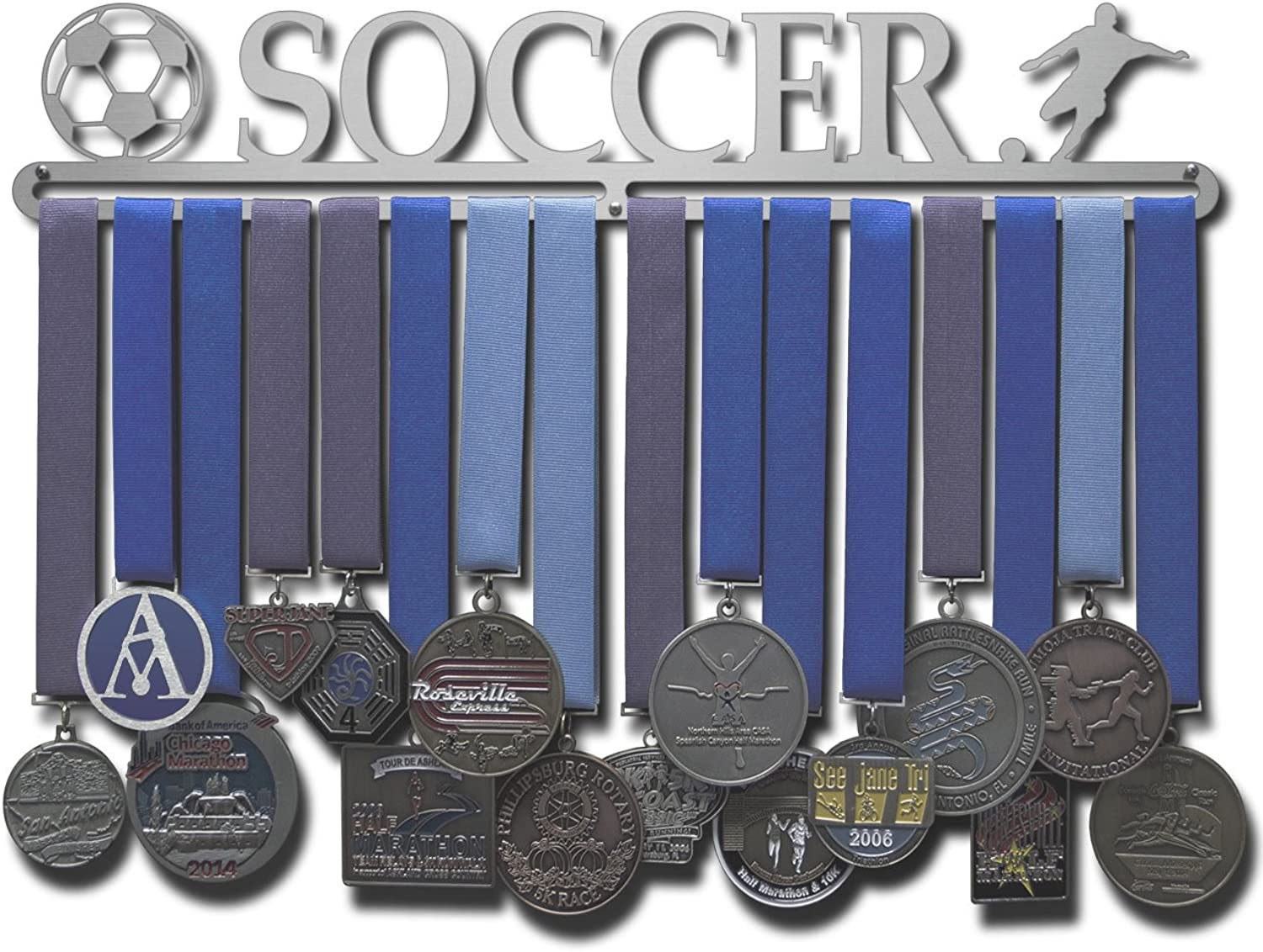 Allied Medal Hangers  Soccer  Male Figure  Multiple Size Options Available