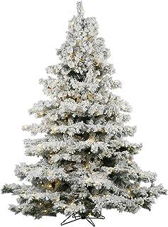 Vickerman 7.5-Feet Flocked Alaskan Pine Artificial Christmas Tree with 900 Clear Lights