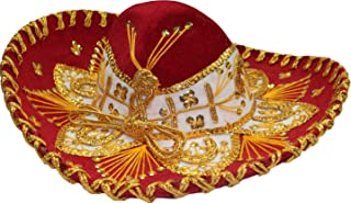 Authentic Mariachi Sombrero Flowers Style Fancy Premium Mexican Sombrero Hat Made in Mexico (Choose Size & Color)