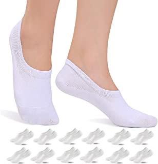 YOUSHOW Ankle Socks Women Men 12 Pairs Trainer Invisible Non Slip Footies Short Low Cut Tops