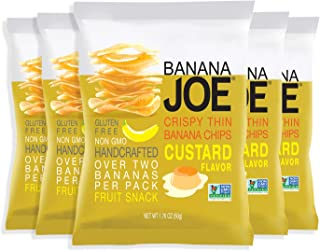 Japanese Tokyo Custard Chips, healthy snacks gluten free, vegan fruit snacks for kids & adults, made from premium bananas ...