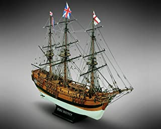 Mamoli MV39 - HMS Bounty - Wood Plank-On-Bulkhead Model Ship Kit - Scale 1/64 - Length 610 mm (24