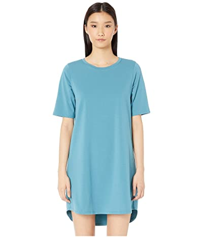 Eileen Fisher Round Neck Elbow Sleeve Knee Length Dress (River) Women
