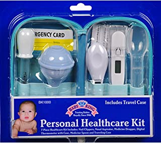 Baby King 7 Piece Baby Healthcare Kit with Travel Case