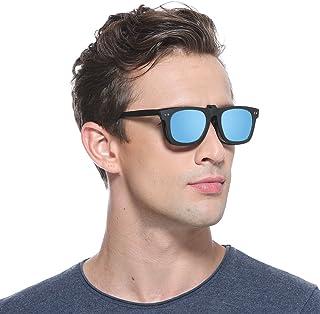 d79eaa677e Cyxus clip on polarizado gafas de sol anti reflejante uv protección moda  retro estilo unisexo (