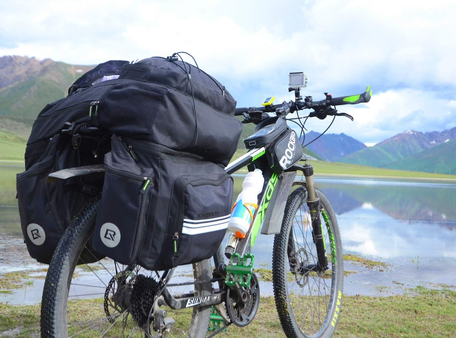ROCKBROS Sacoche Porte-bagages de vélo 3 en 1 Détachable - 1 Sac à ...