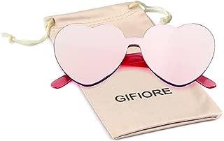 Rimless Sunglasses Heart Transparent One Piece Colorful Glasses