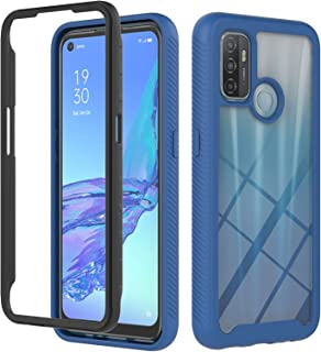 """MOONCASE Case for Oppo A53 4G, Soft Silicone Bumper Rugged Clear Back Shell Shock-absorbent Cover for Oppo A53 4G 6.5"""" - Blue"""