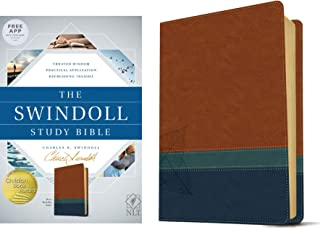 NLT Swindoll Study Bible Brown/Teal/Blue, The