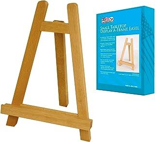 U.S. Art Supply Carmel 10-1/2 inch Tall Tabletop Wood Display Artist A-Frame Easel (1-Easel)