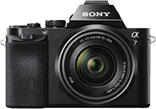 Sony Cámara Alpha α7 Full-Frame 35mm y 24 MP con enfoque automático y sensor CMOS Exmor R™ + Kit de lente 28-70mm F3.5-5.6 y SEL2870