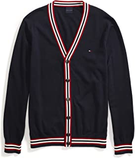 Tommy Hilfiger Men's Adaptive Cardigan Sweater with Magnetic Buttons, Navy Blazer-PT/Multi