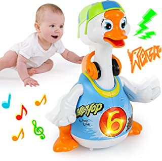 HOLA Musical Toys for Baby Hip Hop Dancing Goose Toys for 1 2 3 4 5 Year Old Kids Girls & Boys Interactive Educational Gif...