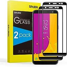 SPARIN 3D Volle Deckung Panzerglas für Samsung Galaxy J6 2018, Schutzfolie mit [9H Härte] [Anti-Kratzen] [Blasenfrei] [HD Klar] [2 Stück]