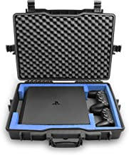 Casematix Waterproof PS4 Carrying Case Compatible with Playstation 4 Pro 1TB Console, PS4 pro Dual Shock Controllers and C...