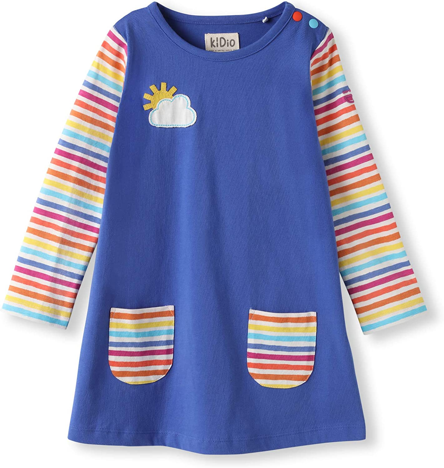 Limited time sale Organic Cotton Applique Baby Infant Toddler Long Sl Credence - Dress Girl