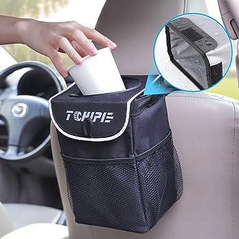 Samoleus Auto M/ülleimer mit Deckel Wasserdicht Auslaufsicher Abfalltasche Auto Zusammenfaltbare/Organizer Abfall-Tasche f/ür Unterwegs