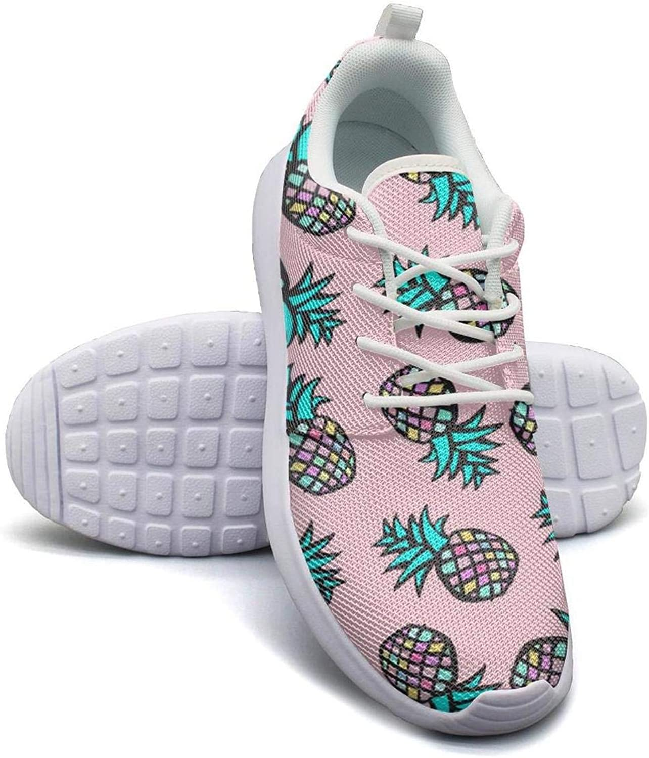 Kanf saysfg Pink Pineapple Fashion Running Sneakers for Women Lightweight Breathabl Tennis shoes