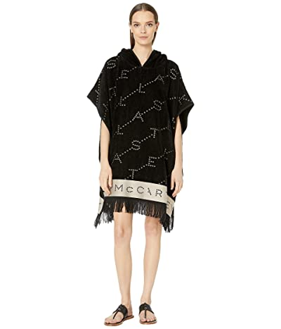 Stella McCartney Monogram Poncho (Black/Cream) Women