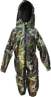 DRY KIDS - Waterproof Rainsuit 11-12 Yrs Camo Green