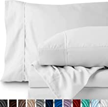 Bare Home Queen Sheet Set - 1800 Ultra-Soft Microfiber Bed Sheets - Double Brushed Breathable Bedding - Hypoallergenic – Wrinkle Resistant - Deep Pocket (Queen, White)