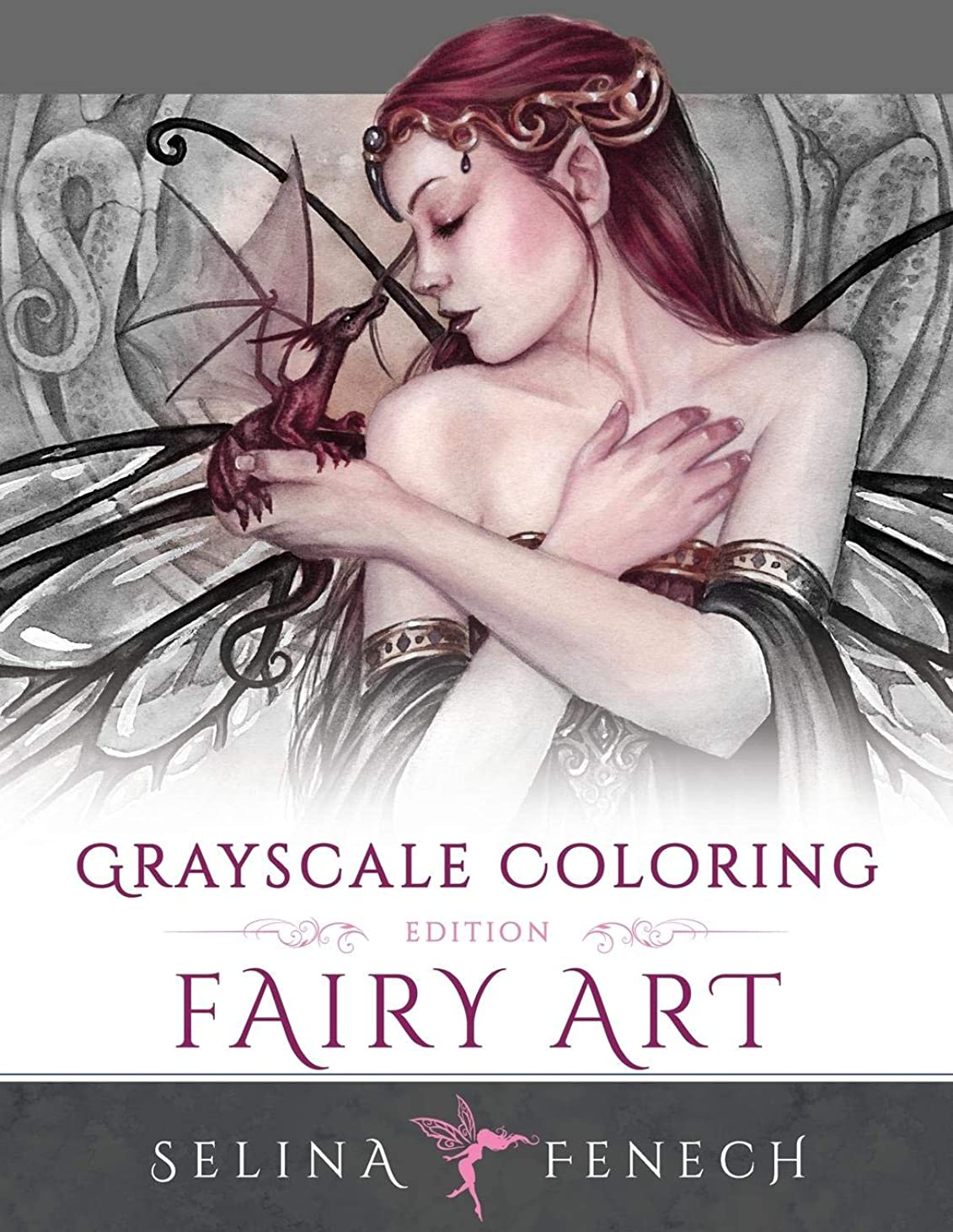 かわす高さ恥ずかしいFairy Art - Grayscale Coloring Edition (Grayscale Coloring Books by Selina)