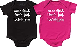 Nursery Decals and More Twin Boy and Girl Bodysuits, Includes 2 Bodysuits, Keep Calm, Monkey See, She Did It