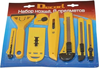 Juego de 8piezas cuchillo universal cuttermessser Alfombra Cuchillo Cutter también para manualidades (cartón