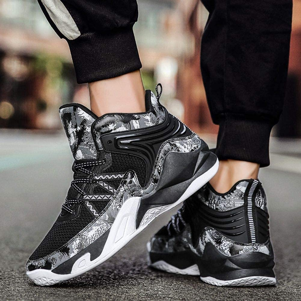 WELRUNG Unisexs High Top Lightweight Fly-Weaving Running Jogging Sneakers Sports Tennis Basketball Shoes