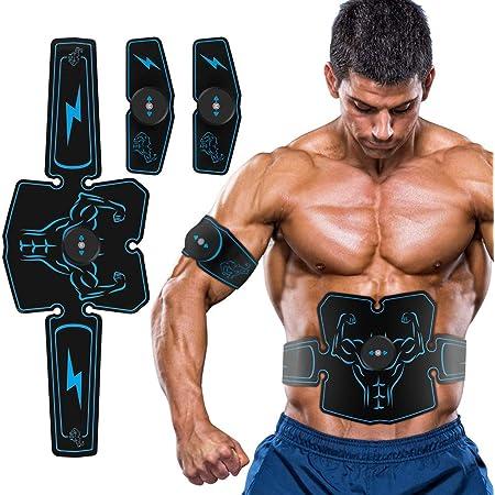 Fayleer EMS Trainingsger/ät Bauchmuskeltrainer EMS Muskelstimulator f/ür Herren Damen Muskelstimulation Elektrostimulation f/ür Bauch Arme Taille Beine H/üften mit 20PC Gel Pad