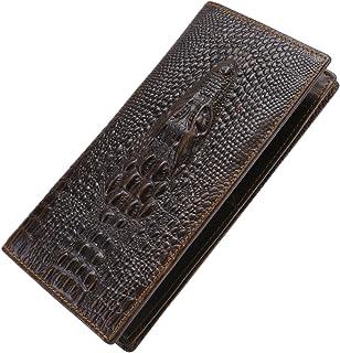 Itslife Men's Cowhide Leather Wallet Alligator/Tiger/Dragon Embossing