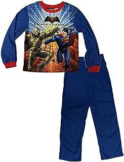 DC Batman v Superman 2 Piece Boys Flannel Pajama Set