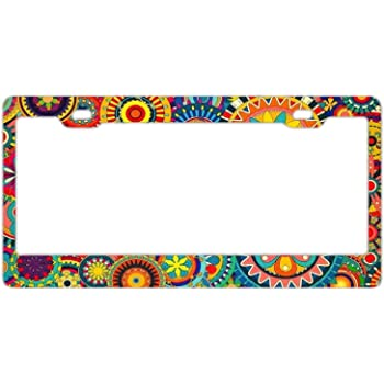 Decorative License Plate Frame Beautiful Paisley Customized Personalized Stainless Steel License Plate Frame Holder