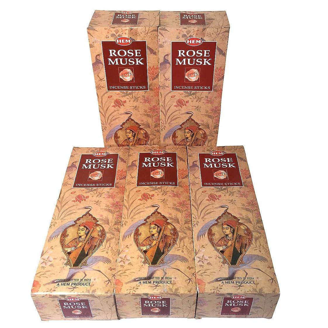 人形プレミアHEM ローズムスク香 スティック 5BOX(30箱)/HEM MAGNOLIA// インド香 / 送料無料 [並行輸入品]