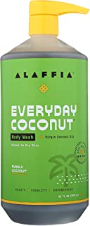 Alaffia EveryDay Coconut Body Wash - Normal to Dry Skin, Helps Gently Moisturize and Cleanse Toxins and Grime, Fair Trade,...