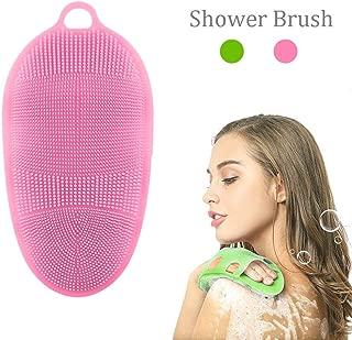 Soft Silicone Body Brush Body Wash Bath Shower Glove Exfoliating Skin SPA Massage Scrubber Cleanser 100% Pure Silicon Materia Body Brush Shower Brush By Aolvo