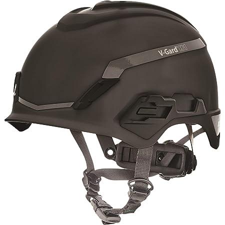 Casco de Seguridad Industrial para Escalada MSA V-Gard H1 - Novent -Negro - 52–64 cm - Casco con barboquejo para Trabajo en Alturas y Rescate - EN397 ...
