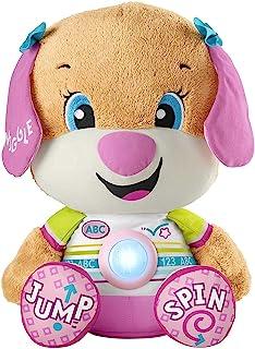 Fisher-Price Laugh & Learn So Big Sis, juguete de peluche musical grande con contenido de aprendizaje para bebés y niños pequeños