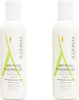 A-derma Foaming Gel, Cleans and Soothes, Soap-free Face wash - 100 ml each (Pack of 2)