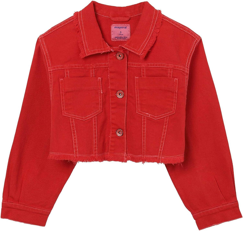 Mayoral - Twill Jacket for Girls - 6469, Poppy