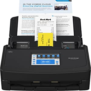 Fujitsu ScanSnap iX1600 Deluxe Versatile Cloud Enabled Document Scanner with Adobe Acrobat Pro DC for Mac or PC, Black