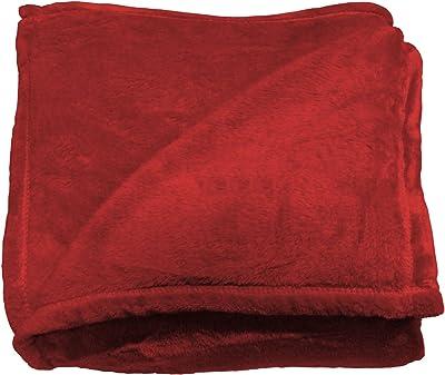 cdda8a9c34 BgEurope Multi-USE Polar Sofa Bed Travel Fleece Blanket - REF. DULCELINA -  RED