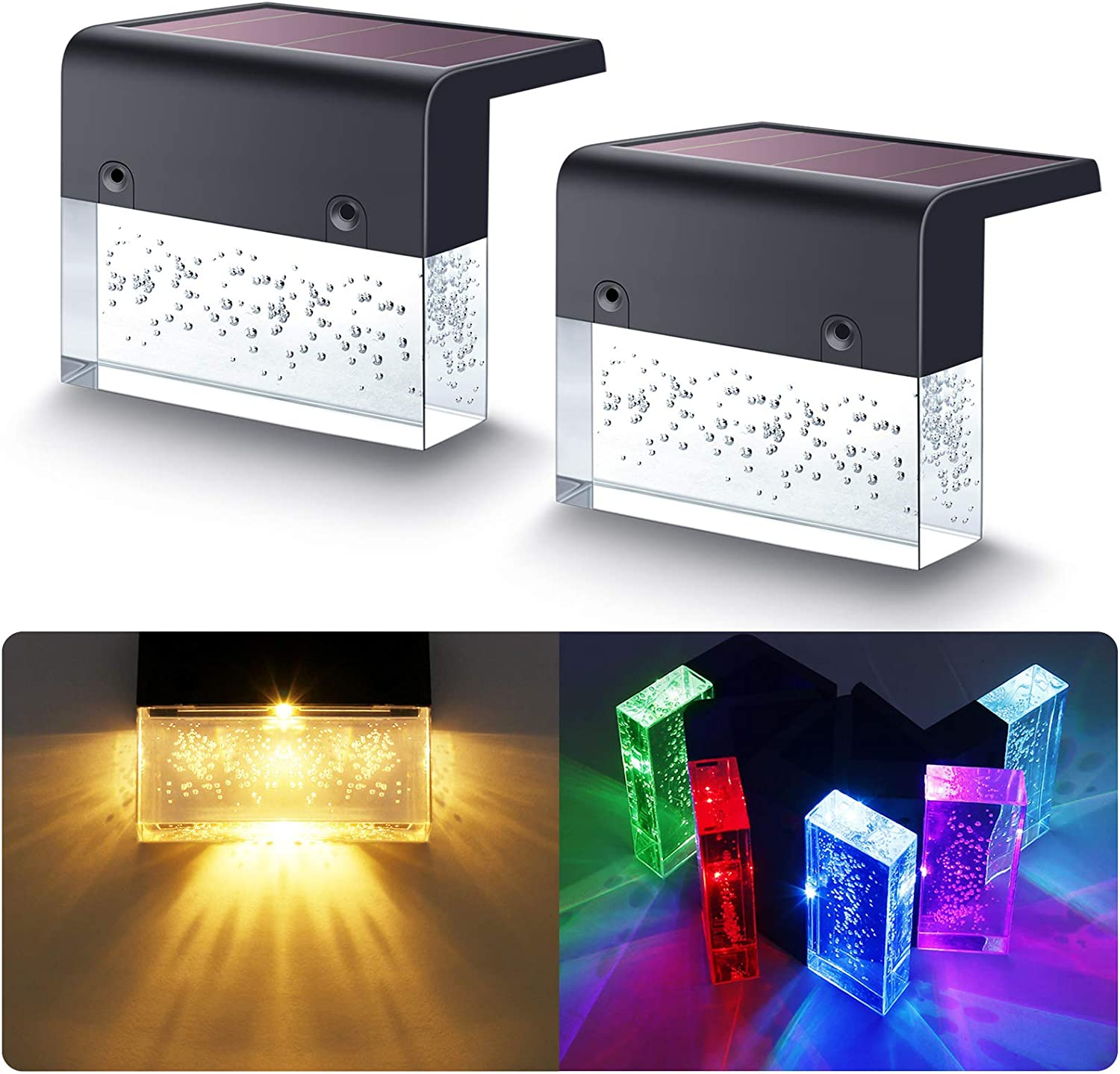 Houston Mall DenicMic Solar Max 60% OFF Deck Lights Led St for Outdoor Step