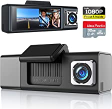 Dual Dash Cam 1080P Front and 1080P Inside Cabin, Dash Camera for Cars with SD Card Included, Car Dash Camera Dashcam with...