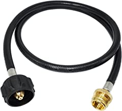 DOZYANT 4 Feet Propane Adapter Hose 1 lb to 20 lb Converter Replacement for QCC1 / Type1 Tank Connects 1 LB Bulk Portable Appliance to 20 lb Propane Tank - Safety Certified