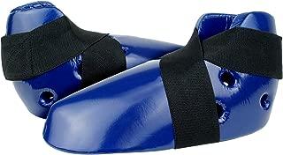 Blue Dipped Foam Sparring Kick Foot Protectors Karate Taekwondo Kickboxing MMA