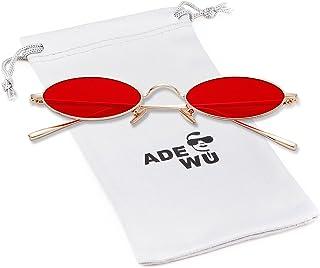 6f8b945ea5 ADEWU Gafas de sol para mujer, gafas ovaladas pequeñas Gafas vintage  redondas con borde de