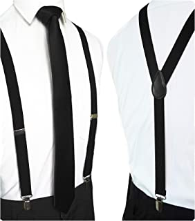 suspenders and necktie