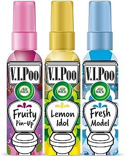 Air Wick VIPoo Spray ambientador para el WC, aroma Frutas del Bosque + Limón + Lavanda - 3 Unidades x 55 ml, hasta 300 usos