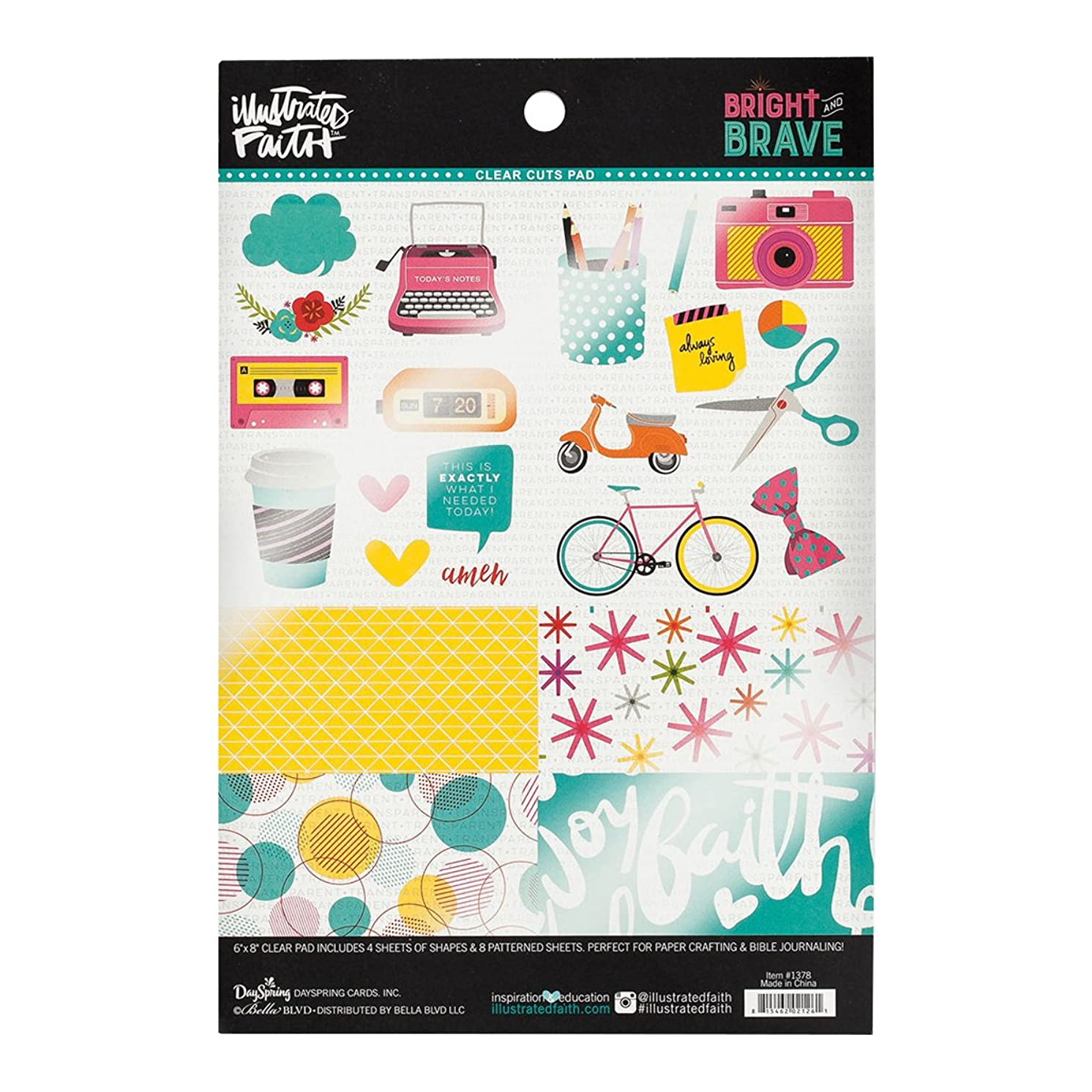 Illustrated Faith - Clear Designer Sheets - Bright and Brave